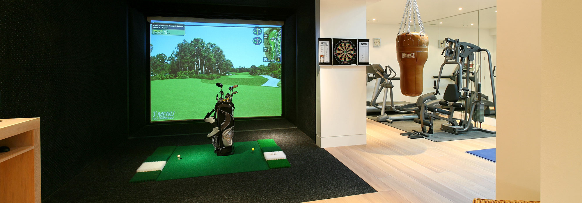 Virtual Golf & Gym Basement